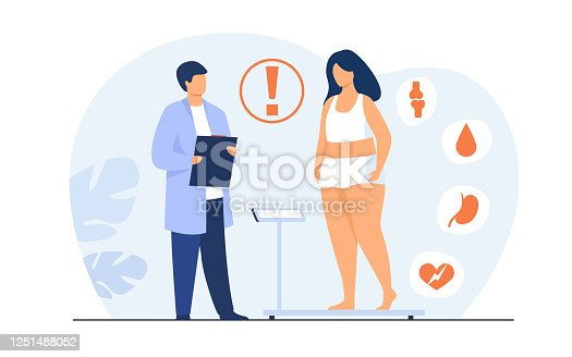 istock Fat patient visiting doctor 1251488052