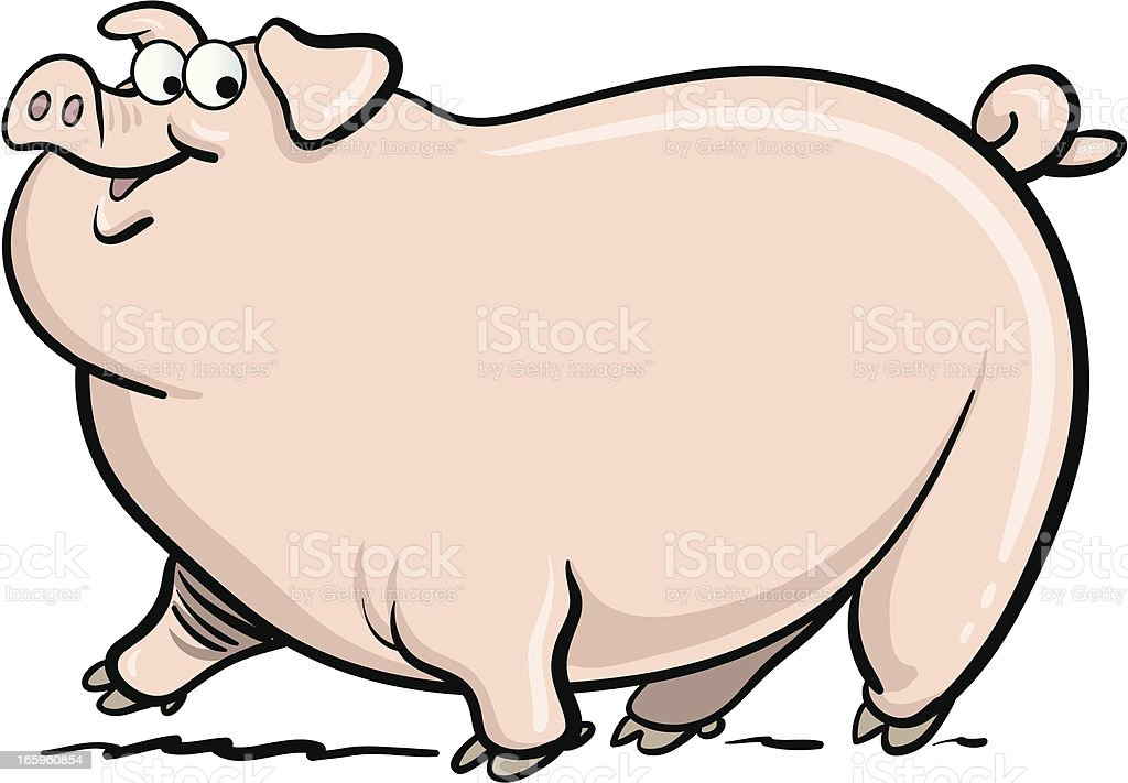 fat pig stock vector art   more images of animal 165960854 newspaper clipart free newspaper clip art 1950s