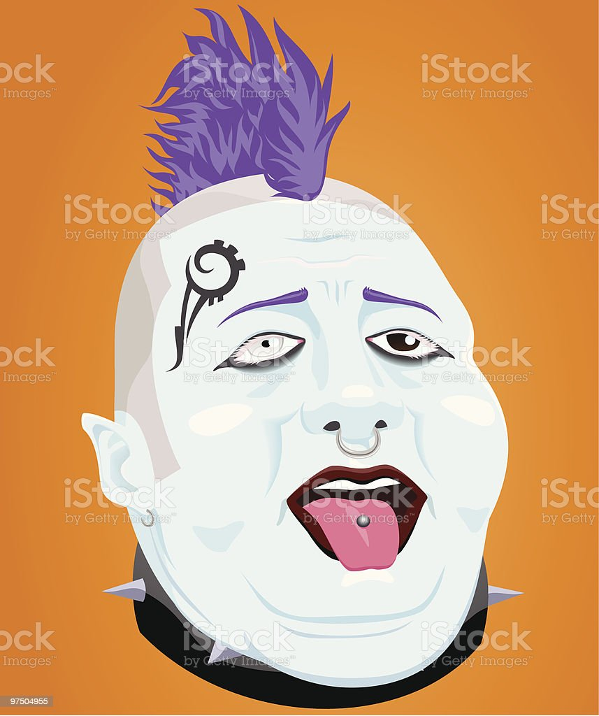 Fat Punk royalty-free fat punk stock vector art & more images of adult