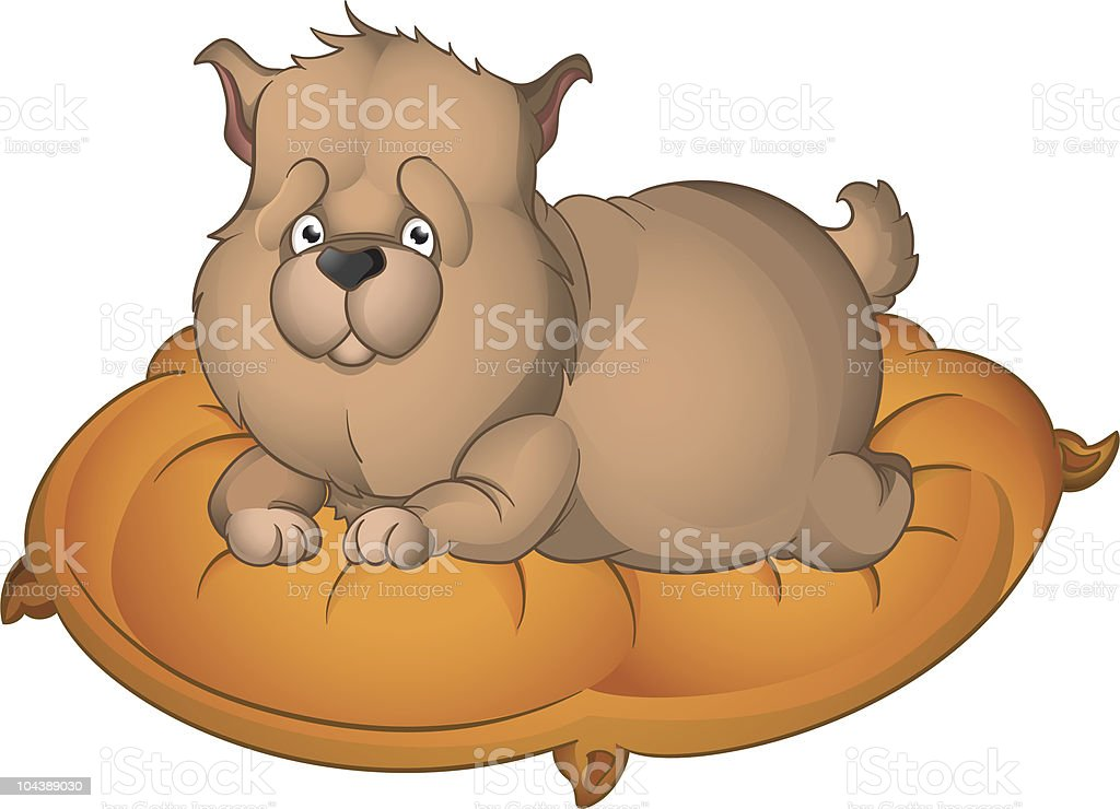 Fat Puppy Stock Vector Art More Images Of Animal 104389030 Istock