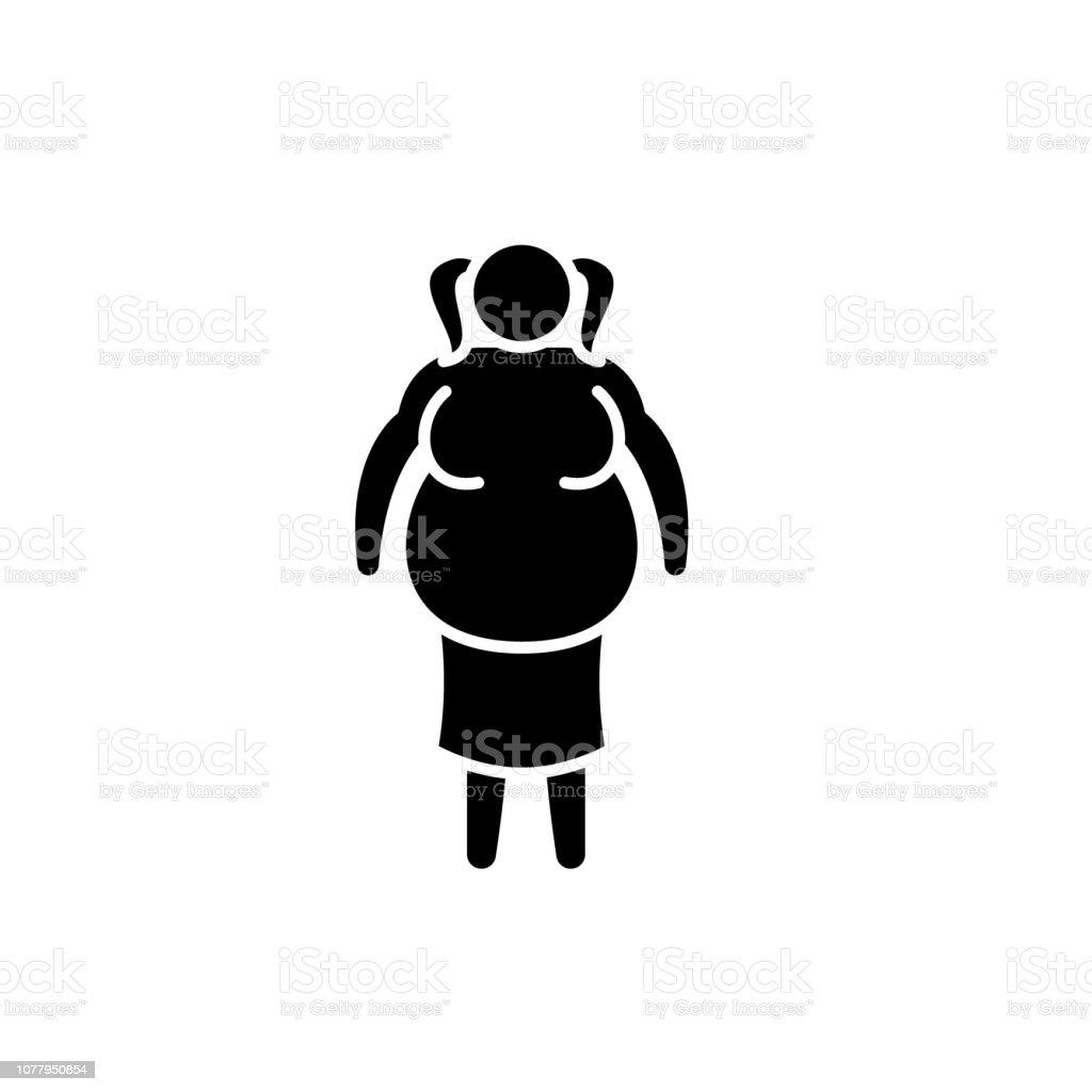 Sisko Kadin Siyah Simgesi Izole Arka Plan Tabelada Vektor Sisman