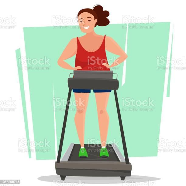 Fat woman on running treadmill in gym vector id937298718?b=1&k=6&m=937298718&s=612x612&h=d7p6x aruqbjxoo2ffsnbxsvptkfsvip2hsehkri10e=