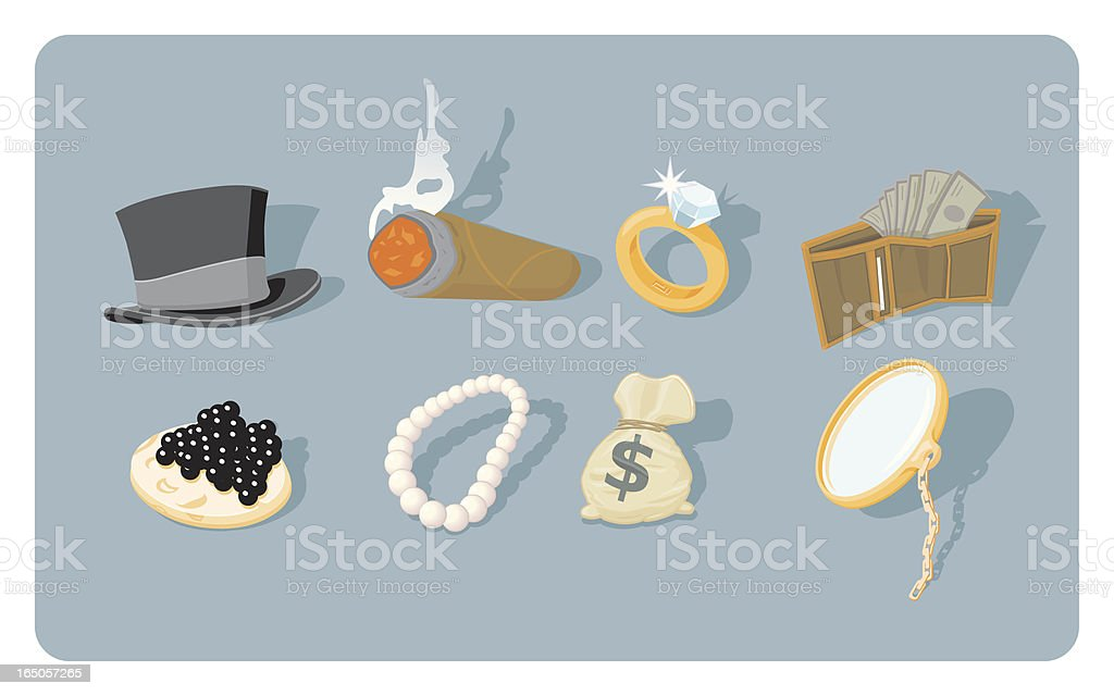 Fat-Cat Icon Set royalty-free stock vector art