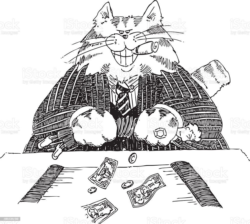 FatCat royalty-free stock vector art