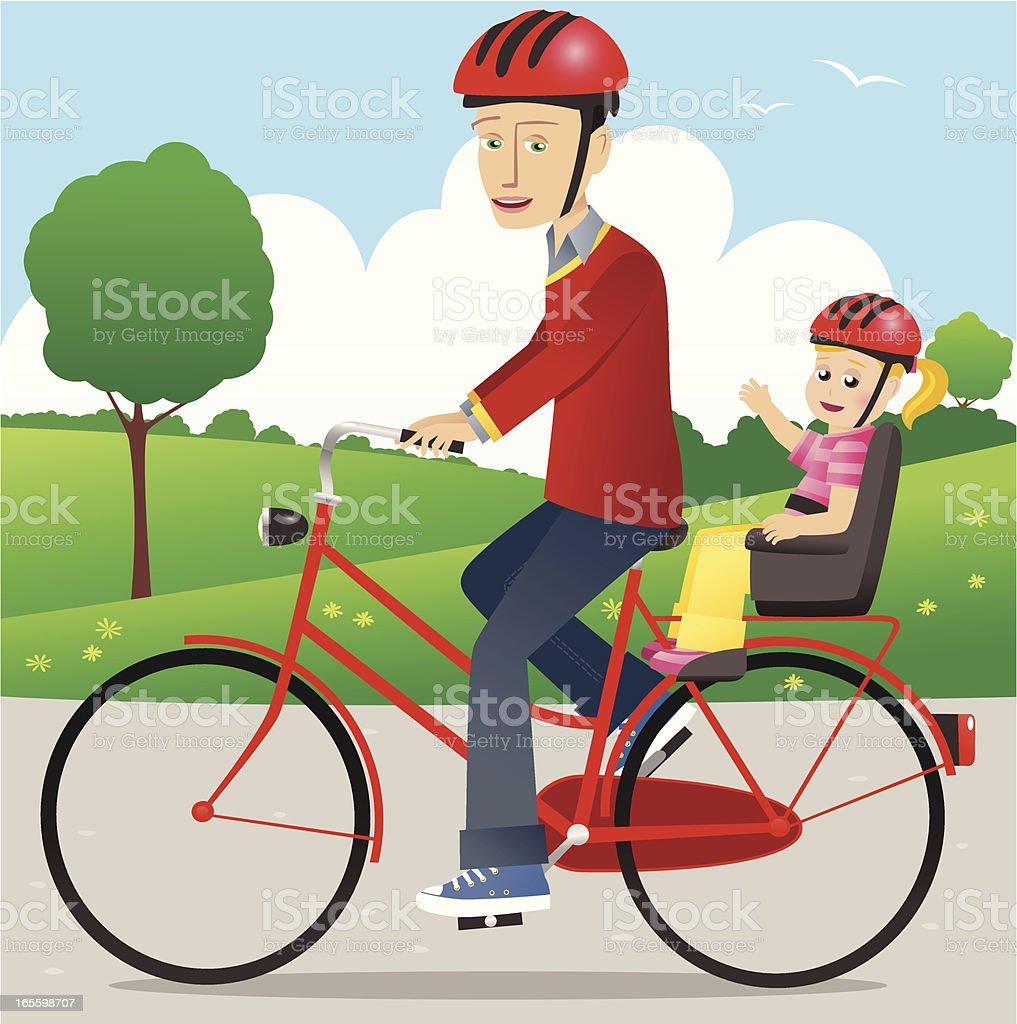 Pai e filho andando de bicicleta ilustração de pai e filho andando de bicicleta e mais banco de imagens de 12-17 meses royalty-free