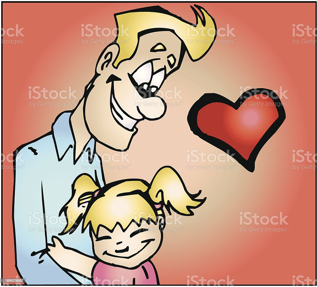 Father and Daughter hugging cartoon illustration VECTOR royalty-free father and daughter hugging cartoon illustration vector stock vector art & more images of adult