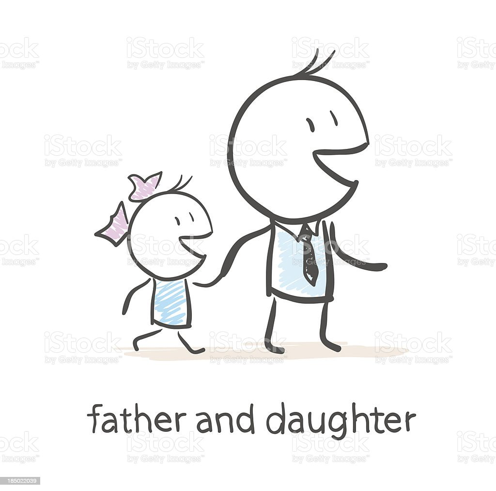 Father and daughter royalty-free father and daughter stock vector art & more images of activity