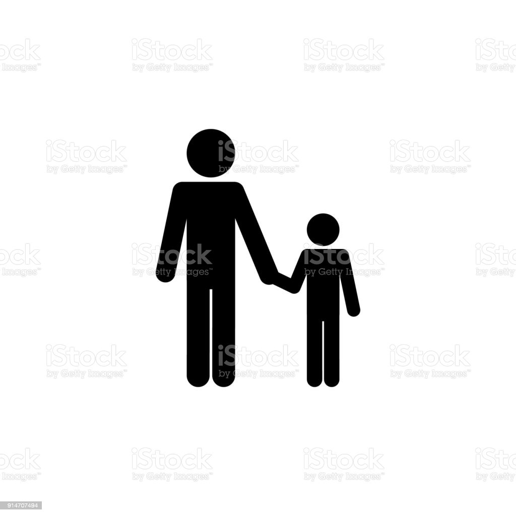 Father And Son Holding Hands Icon Elements Of Happy Family Icon