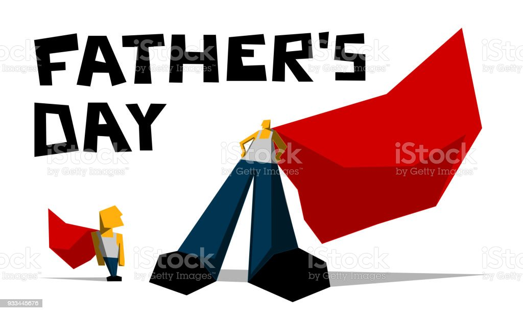 father and son of superhero comics greeting card fathers day stock