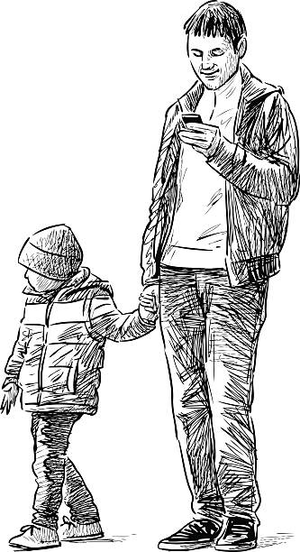 Best Single Dad Illustrations, Royalty-Free Vector