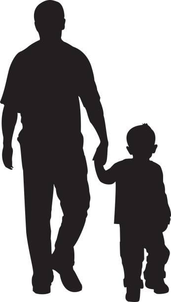 Vater und Sohn – Vektorgrafik