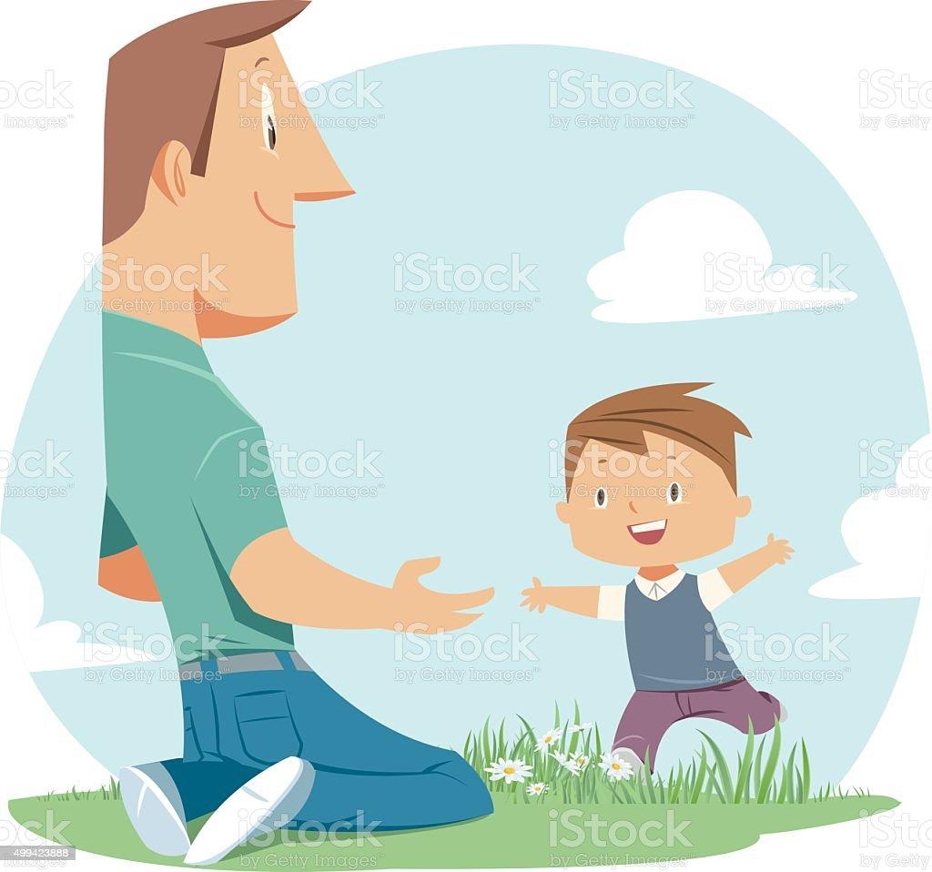 Père et fils - Illustration vectorielle