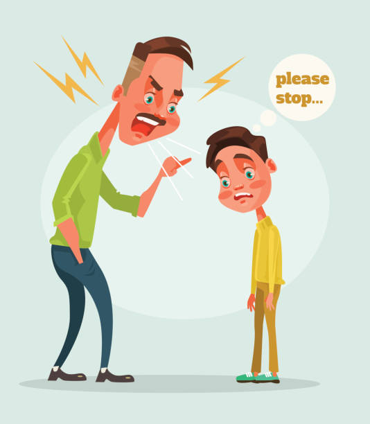 Top 60 Father Scolding Clip Art, Vector Graphics and ...