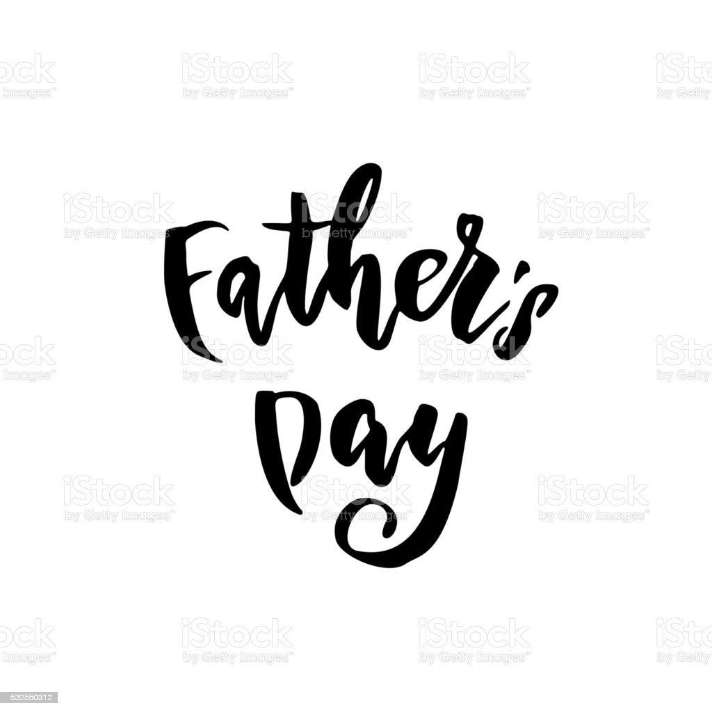 Father day calligraphy lettering title stock vector art