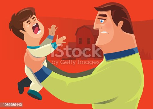 istock father holding crying toddler 1069985440