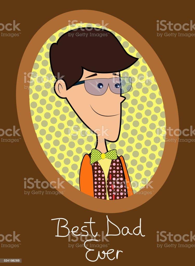 Père Avec Père Dans Un Cadre Plus Jamais Texte Vecteurs