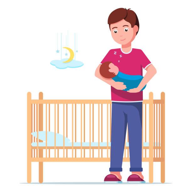 Baby Sleeping In Crib Illustrations, Royalty-Free Vector ...