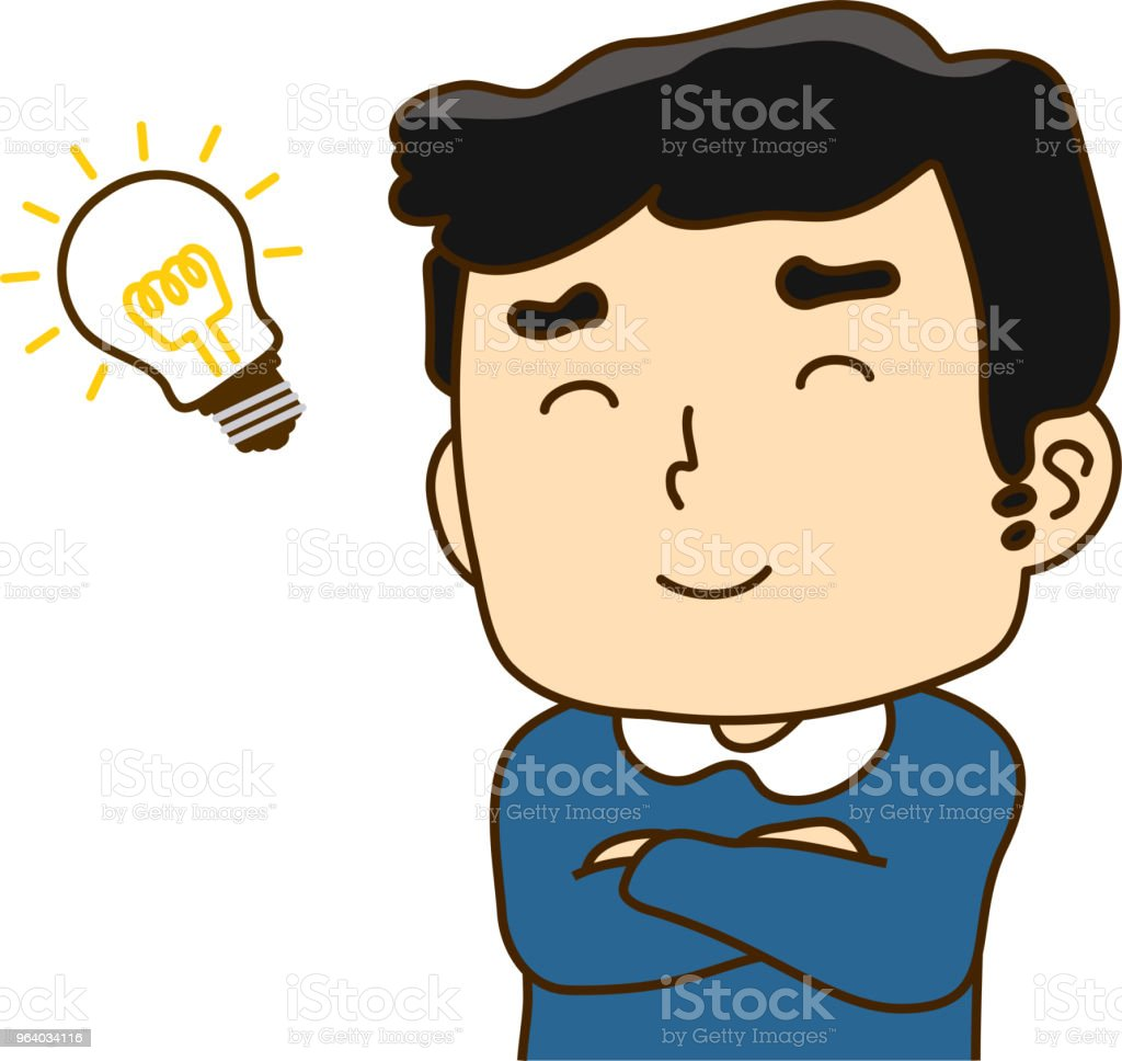 Father looks like understand - Royalty-free 20-29 Years stock vector