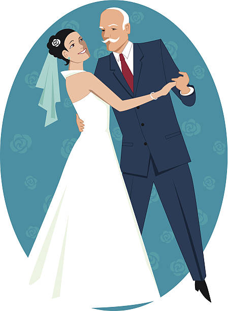 father of the bride - father daughter wedding dance stock illustrations, clip art, cartoons, & icons