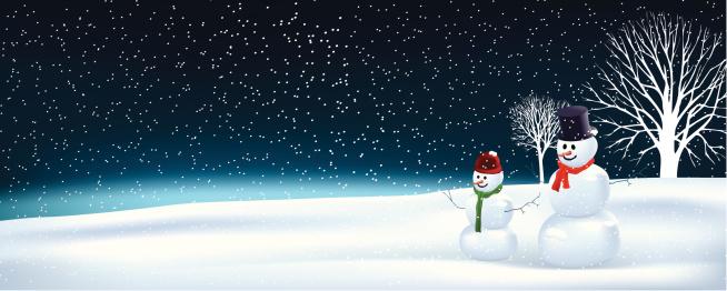 Father & son snowman