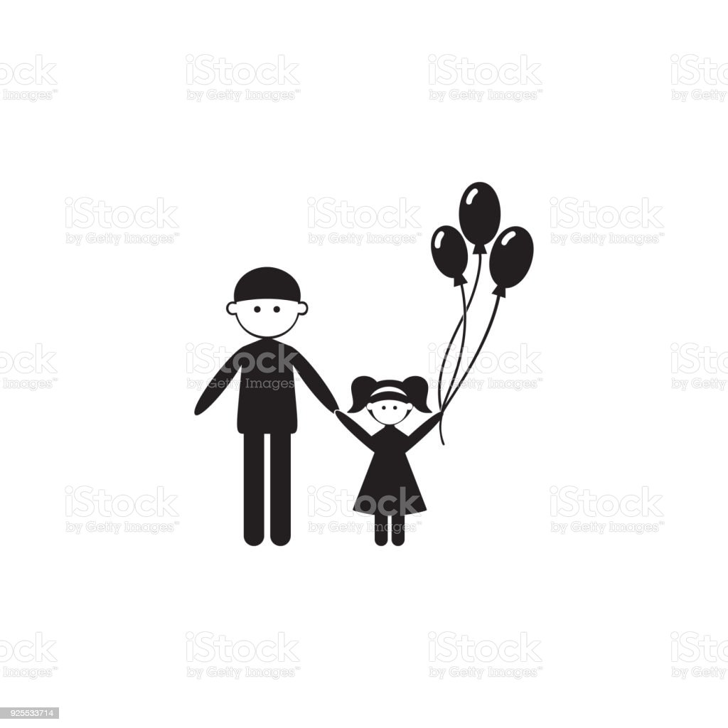 Father with daughter icon illustration of family values icon father with daughter icon illustration of family values icon premium quality graphic design biocorpaavc