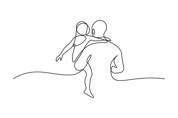 ilustraciones, imágenes clip art, dibujos animados e iconos de stock de padre con hija - hija