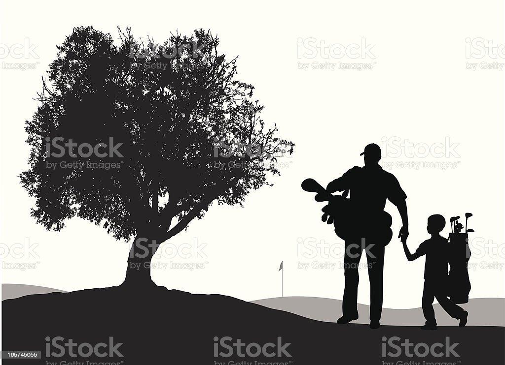 Père'nSonGolf - Illustration vectorielle