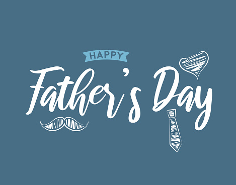 Father's Day background, card. Vector