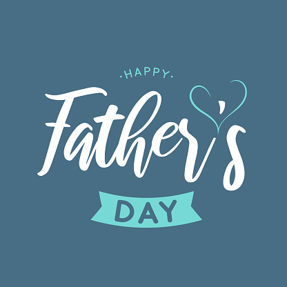 Father's Day background, poster. Vector