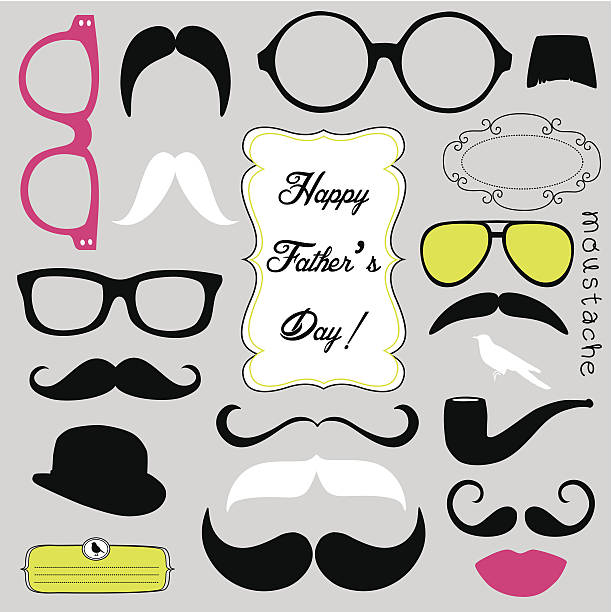 Father's day background vector art illustration