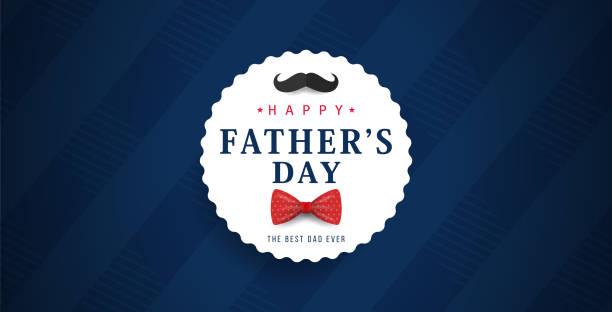Father's Day Banner Father's Day Banner fathers day stock illustrations