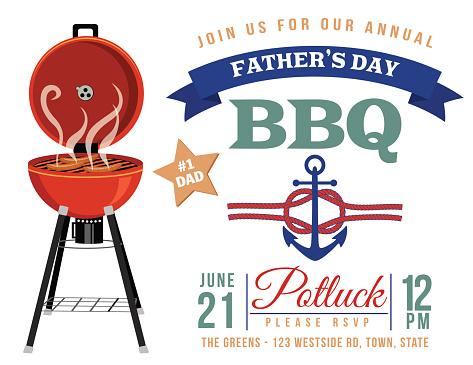 Father's day BBQ Invitation Template