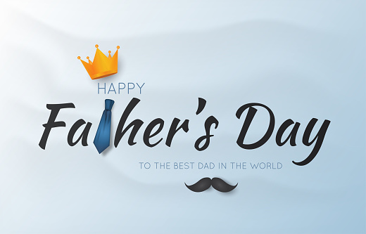Father's Day card, background. Vector