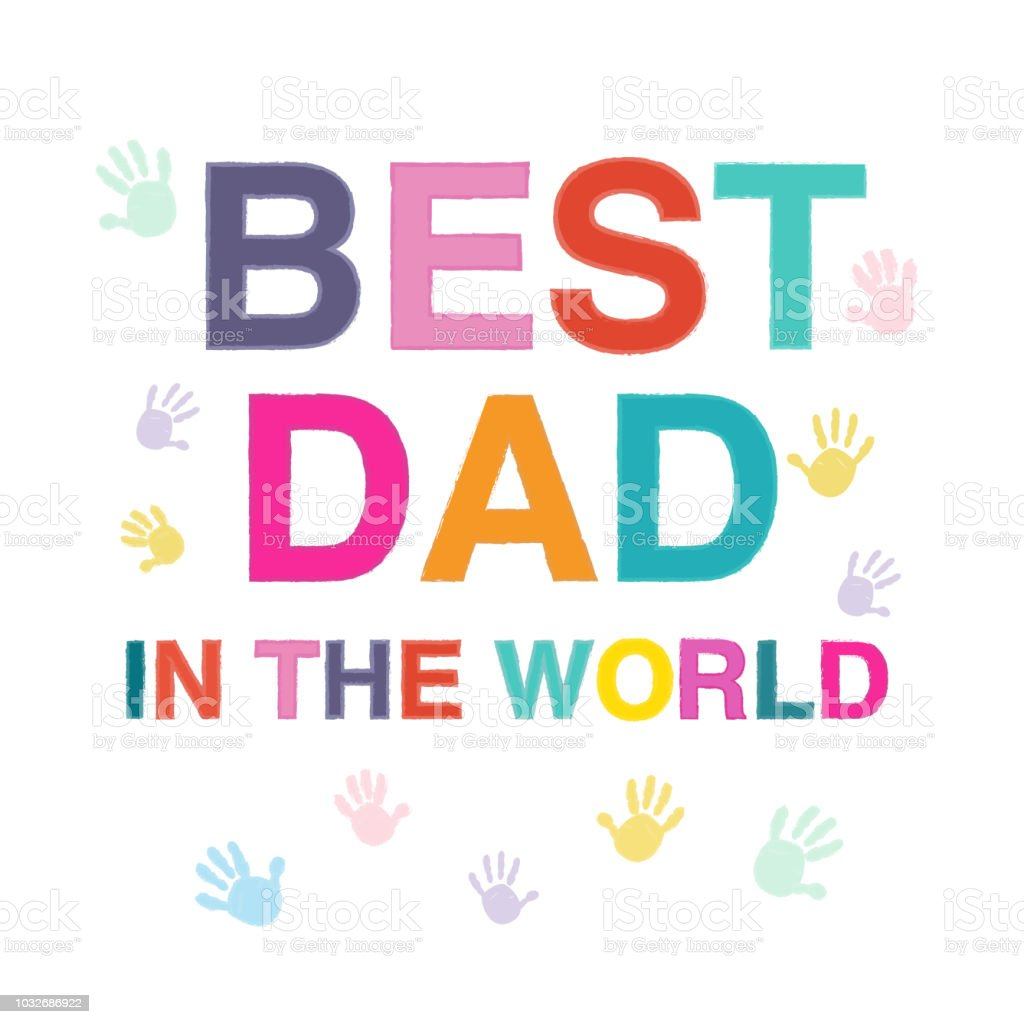 Fathers Day Card Best Dad Greeting Card Stock Vector Art More