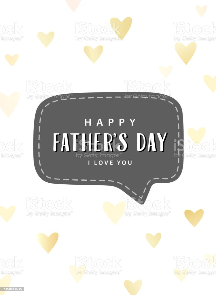 Father's day card. Happy Father's day, I love you text. royalty-free fathers day card happy fathers day i love you text stock vector art & more images of art
