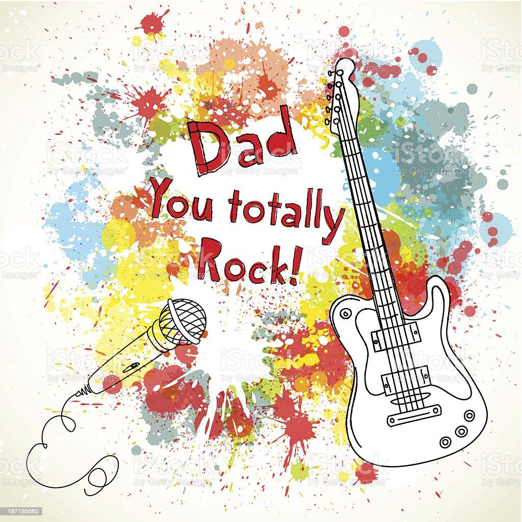 Father's Day card royalty-free stock vector art