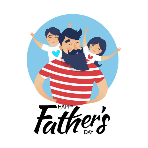 father's day card - fathers day stock illustrations, clip art, cartoons, & icons