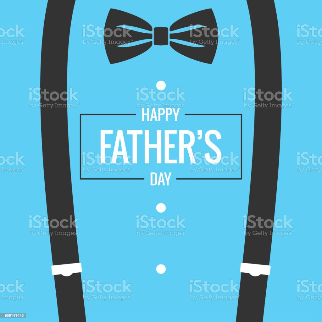 Fathers Day Card With Bow Tie And Suspenders Background Stock ...