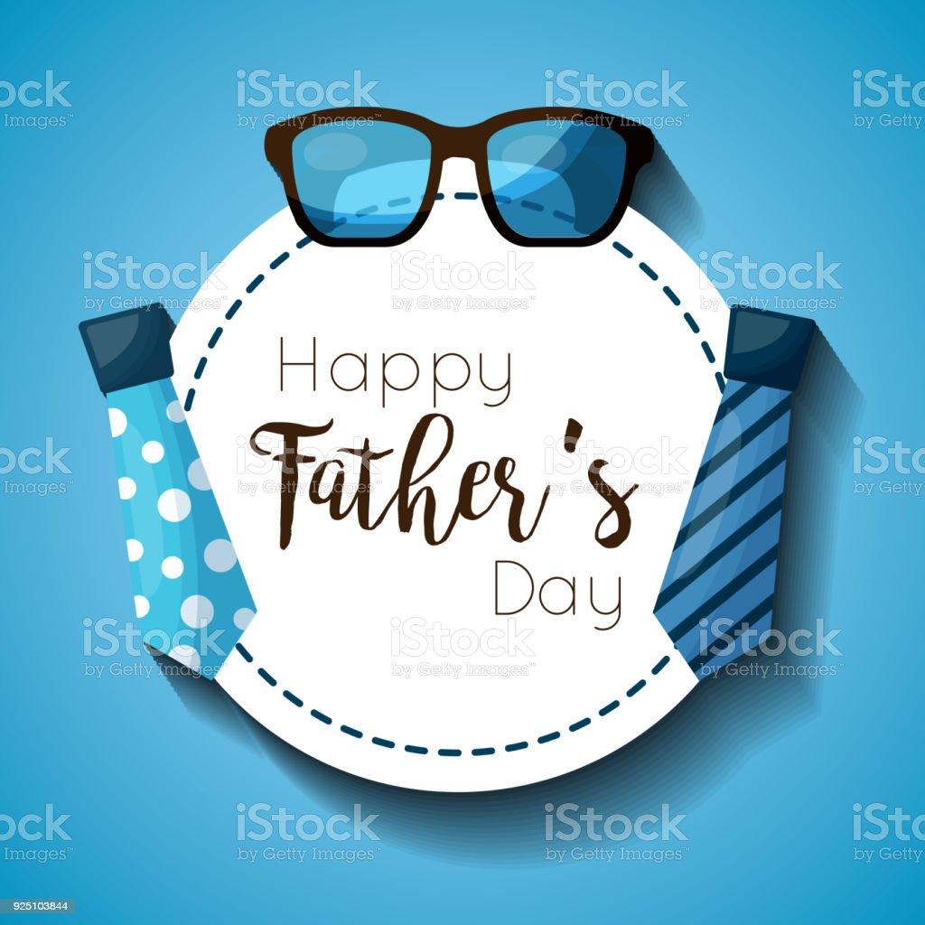tarjeta de celebración del día de padres - ilustración de arte vectorial