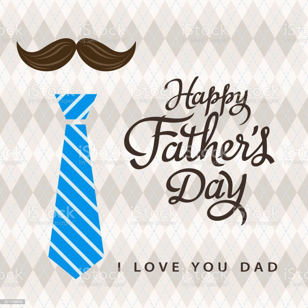 Father's Day Celebration vector art illustration