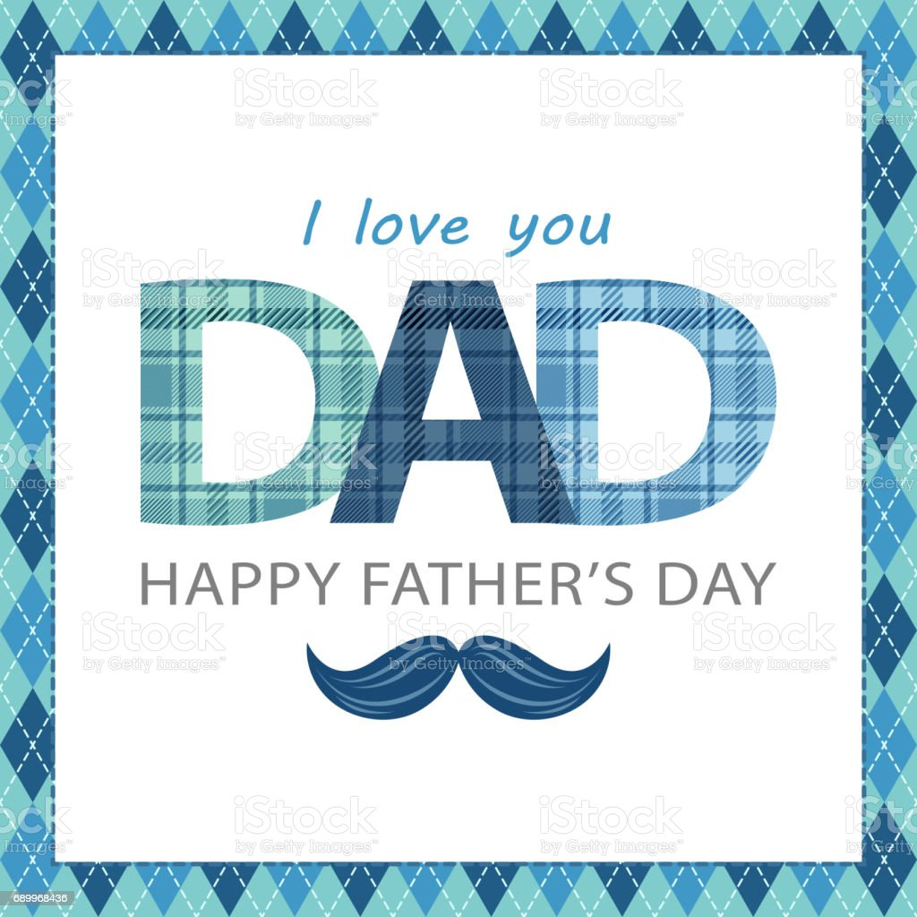 Father's Day Celebration vector art illustration
