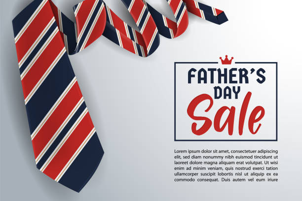 father's day greeting card background design with necktie - tie stock illustrations, clip art, cartoons, & icons