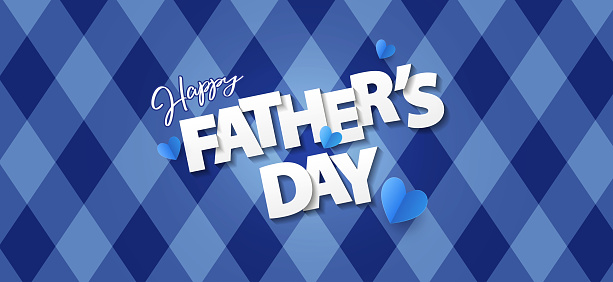 Fathers Day greeting card, banner, poster or flyer design