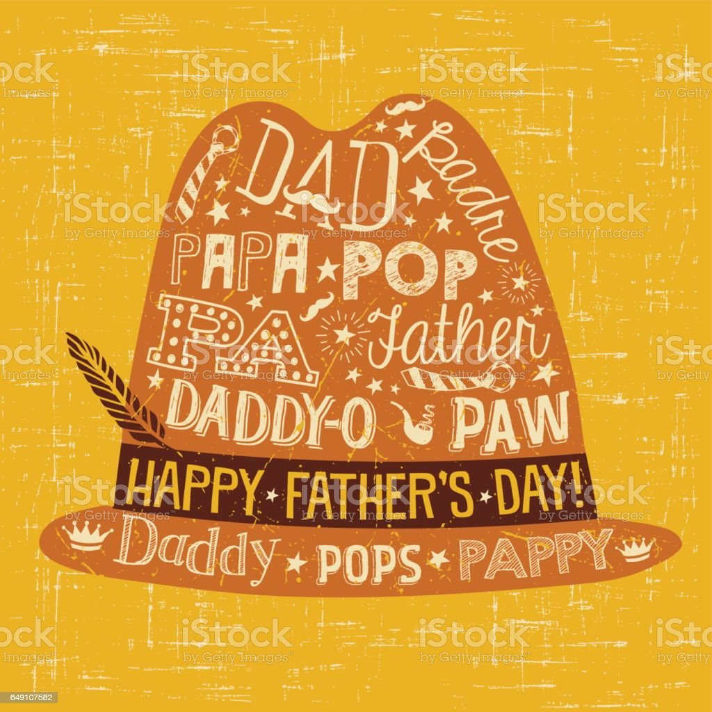 Fathers day greeting card doodle style fedora with various different fathers day greeting card doodle style fedora with various different nicknames for dad royalty m4hsunfo