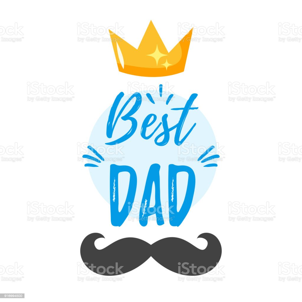 Fathers Day Greeting Card Template
