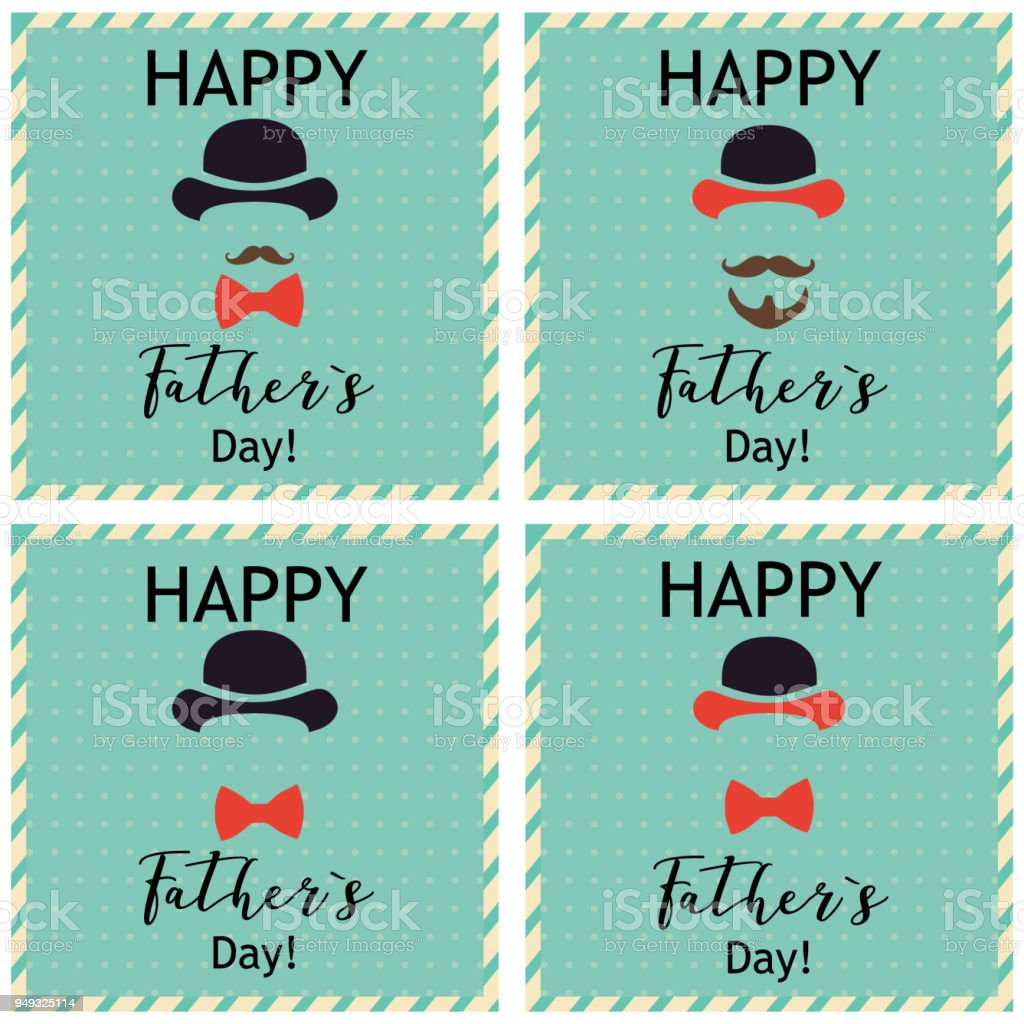 Fathers day greeting set of greeting cards vector illustrations fathers day greeting set of greeting cards vector illustrations royalty free fathers m4hsunfo