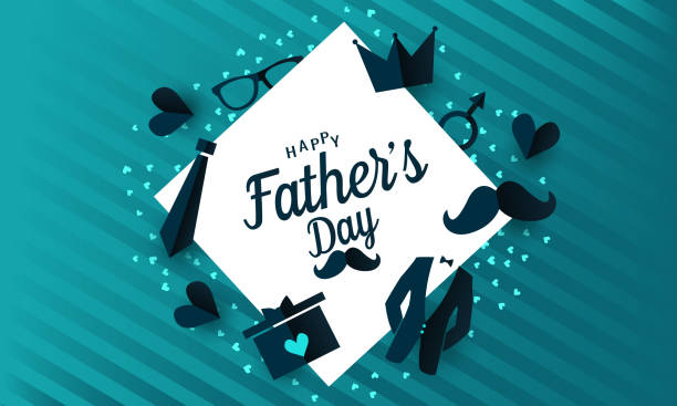 Fathers day greeting Fathers Day greeting card or background. vector illustration. fathers day stock illustrations