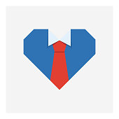 Father's day heart shirt icon,vector illustration. EPS 10.