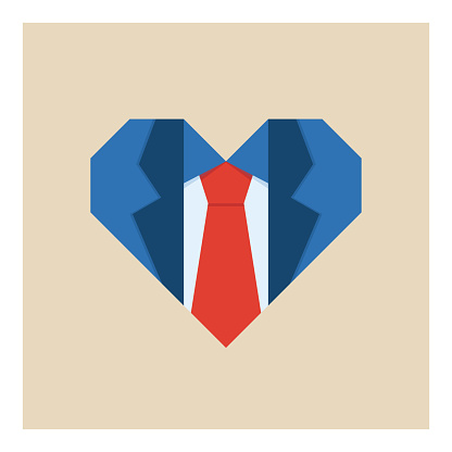 Father's day heart shirt icon