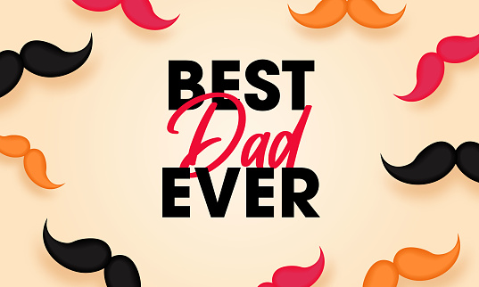 Fathers Day Lettering Calligraphic Design. Best Dad Inscription.